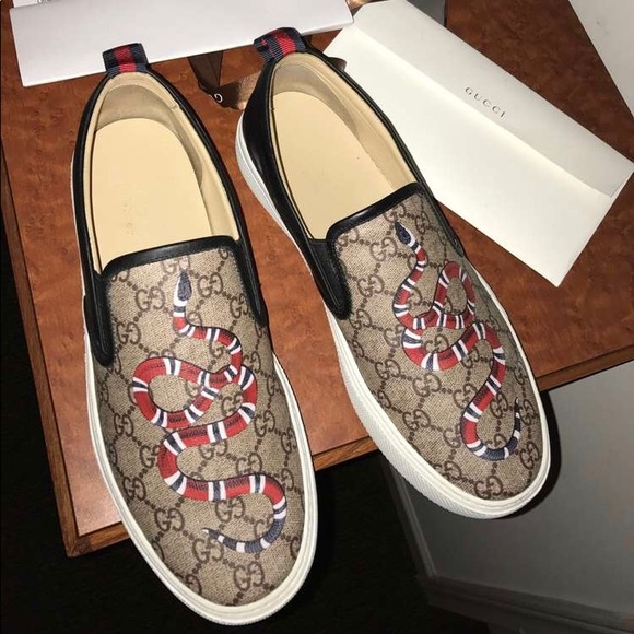 Gucci Shoes   Gucci Dublin Snake Slip